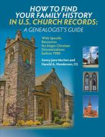 How to Find your Family History in U.S. Church Records