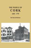 The People of Cork 1600-1799