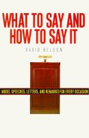What to Say and How to Say It for All Occasions