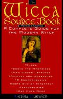 The Wicca Source Book
