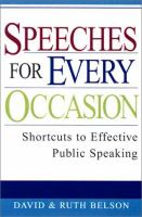 Speeches for Every Occasion