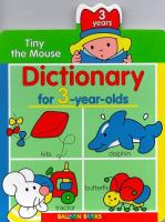 Dictionary for the 3-year-olds