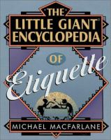 The Little Giant Encyclopedia of Etiquette