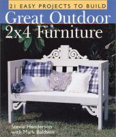 Great Outdoor 2 X 4 Furniture