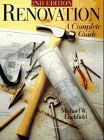 Renovation, A Complete Guide