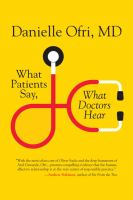 What Patients Say, What Doctors Hear *