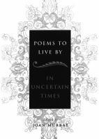Poems to Live by in Uncertain Times