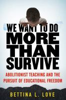 We Want to Do More Than Survive