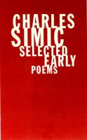 Selected Early Poems