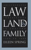 Law, Land & Family