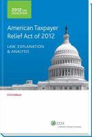 2012 Tax Legislation