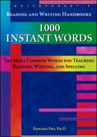 1000 Instant Words