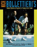 Nick Bollettieri's Mental Efficiency Program for Playing Great Tennis