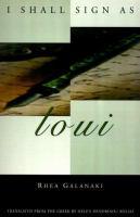 I Shall Sign as Loui