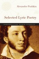 Selected Lyric Poetry