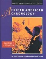 African American Chronology