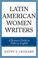 Latin American Women Writers