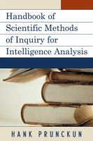 Handbook of Scientific Methods of Inquiry for Intelligence Analysis