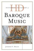 Historical Dictionary of Baroque Music