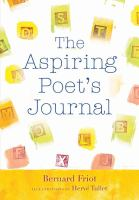 the aspiring poet's journal, by bernard friot