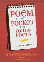 Poem in your Pocket for Young Poets