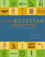 Decoding Egyptian Hieroglyphs