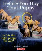 Before You Buy That Puppy