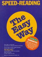 Speed-reading the Easy Way