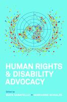 Human Rights and Disability Advocacy