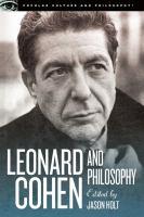 Leonard Cohen and Philosophy