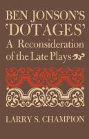Ben Jonson's 'Dotages'
