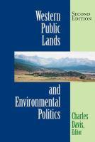 Western Public Lands and Environmental Politics