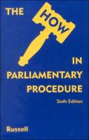 "The ""how"" in Parliamentary Procedure"