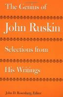 The Genius of John Ruskin