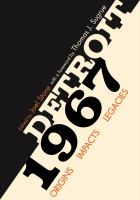 Cover of Detroit 1967 : origins, impacts, legacies