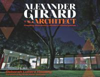 Alexander Girard, Architect