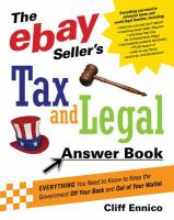 The EBay Seller's Tax and Legal Answer Book