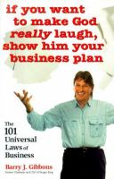 If You Want to Make God Really Laugh, Show Him your Business Plan