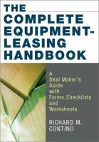 The Complete Equipment-leasing Handbook