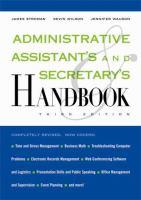 Administrative Assistant's and Secretary's Handbook