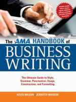 AMA Handbook of Business Writing