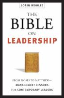 The Bible on Leadership