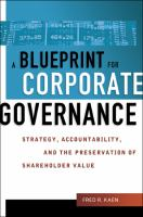 A Blueprint For Corporate Governance
