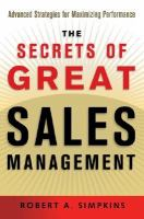 The Secrets of Great Sales Management