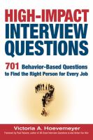High-impact Interview Questions