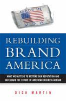 Rebuilding Brand America