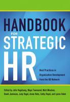 Handbook for Strategic HR