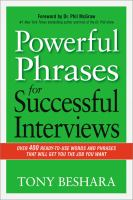 Power Phrases For Successful Interviews