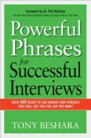 Powerful Phrases for Successful Interviews