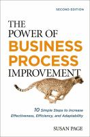 The Power of Business Process Improvement